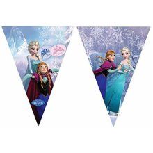 Disney Frozen Ice Skating Triangle Flag Banner - 2.3m - Hanging Party Decoration