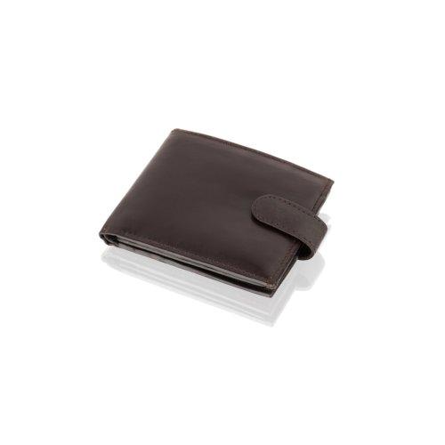 "Woodland Leather Brown Bi Fold 4.5"" RFID Multi Pocket Wallet"