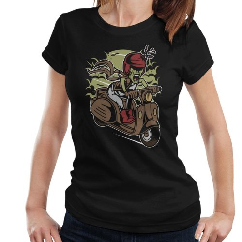 (Large) Zombie Scooter Women's T-Shirt