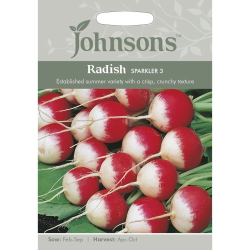 Johnsons Seeds - Pictorial Pack - Vegetable - Radish Sparkler 3 - 750 Seeds