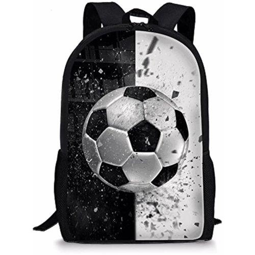 Nopersonality Stylish Child Football Backpack Primary Student Kids School Bookbag