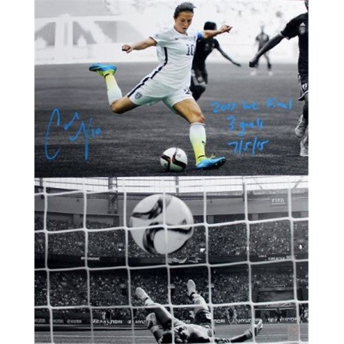 Athlon Sports CTBL-022304a 16 x 20 in. Carli Lloyd Signed 2015 World Cup Final Goal Olympic Team USA Photo with 3 Goals 7-5-15 Tristar Hologram