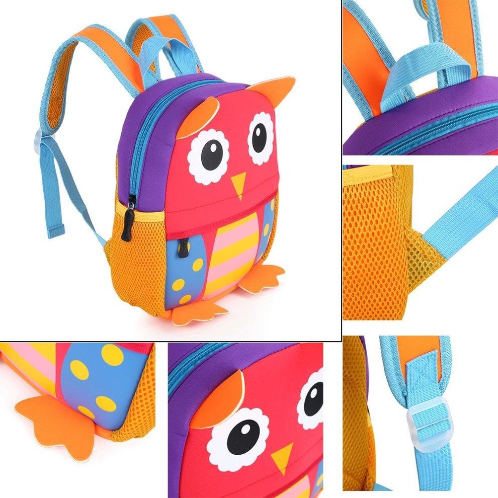 Hotrose Children Bag Kindergarten Cartoon Backpack Animal Pattern Rucksack for