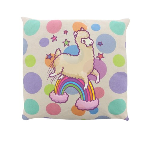 Grindstore Happy Space Llama Filled Cushion
