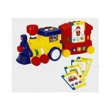 Megcos 1213 Plastic Interactive Musical Quizzer Train