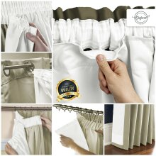 PENCIL PLEAT BLACKOUT THERMAL CURTAIN LININGS READY MADE 3 PASS CURTAIN LINING