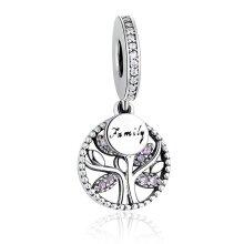 Pandora Charm Silver Bracelet WITH CUBIC ZIRCONIA Bead