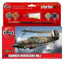 Airfix A55111 1:72 Scale Hawker Hurricane MkI Starter Gift Set