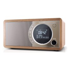 Sharp DR-450(BR) 6W DAB+ FM Bed Side Radio with Bluetooth & LED Display - Brown