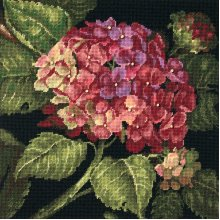 """Dimensions Needlepoint Kit 14""""X14""""-Hydrangea Bloom Stitched In Wool"""