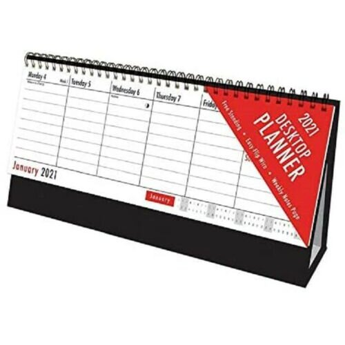 2021 Desk-top Flip Calendar -  view calendar planner flip week easy desk top desktopstand up office wire home