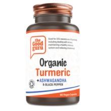 Organic Turmeric+ Ashwagandha & Black Pepper Supplements, Gluten-free