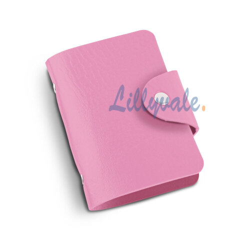 PU Leather Credit ID Business Card Holder- Pink