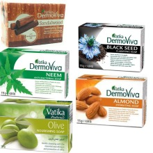 Dabur Vatika Dermoviva Soap 115g - Black Seed, Olive, Neem, Almond & Sandalwood