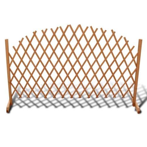 vidaXL Solid Wood Trellis Fence 180x100cm Extendable Outdoor Barrier Panel