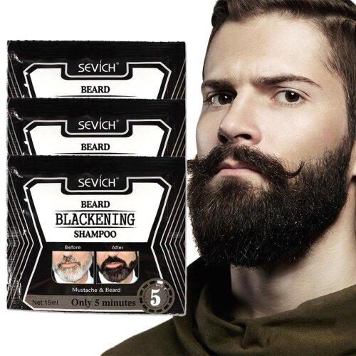 Natural Faster Herb Blackening Beard Shampoo Dye Beard