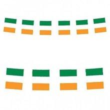 Henbrandt 12' Eire Ireland Irish St Patricks Day Party Plastic Decorations Bunting Flags