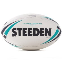 Steeden Classic Trainer Rugby League Training Ball White/Green
