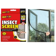 BLACK INSECT SCREEN Mosquito Window Mesh Net Fly Bug Moth Bees UK