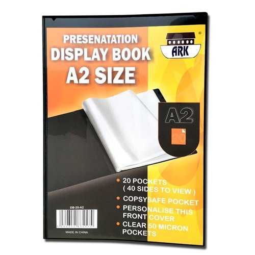 A2 Black Presentation Display Book by Ark (20 Pockets (Single))