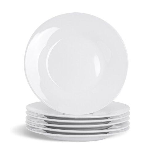 "Porcelain Side Plates White Dessert Plate Tableware Crockery 154mm 6"" Set x6"