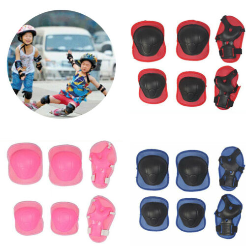 Kids Elbow Wrist Knee Pads Protective Gear Helmet Skate Cycling Protection Set