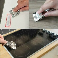 Window Glass Ceramic Hob Scraper Clean with 5 Blades Oven Cooker Cleaning Tool