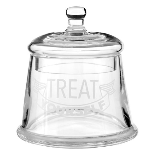 Treat Yourself Storage Jar Clear Glass