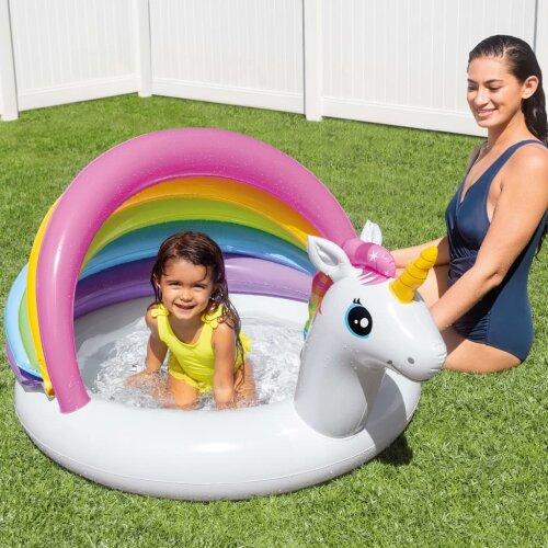 Intex Unicorn Baby Pool Garden Patio Kids Splash Pond Water Swim Play Center