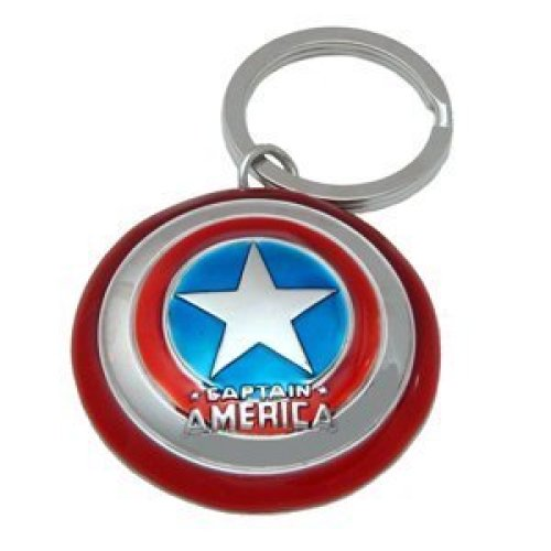 Metal Key Chain - Marvel - Captain America's Shield Pewter Gifts Toys New 67421