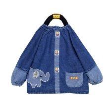 Useful Baby Bib Baby Cotton Durable Feeding Painting Smock Elephant 1-2 Years