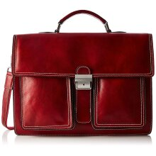 43x30x11 cm  Leather Briefcase - Made in Italy