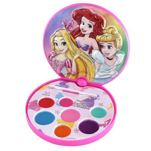 Disney Princess Lipstick Lip Balm Makeup Brush Mirror Cosmetic Makeover Play Set