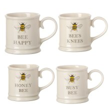 Tuftop Bee Set of 4 Tankard Style Espresso Mugs