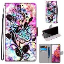 Samsung Galaxy S20 FE Lite Case Pattern Cover Folio with kickstand flower