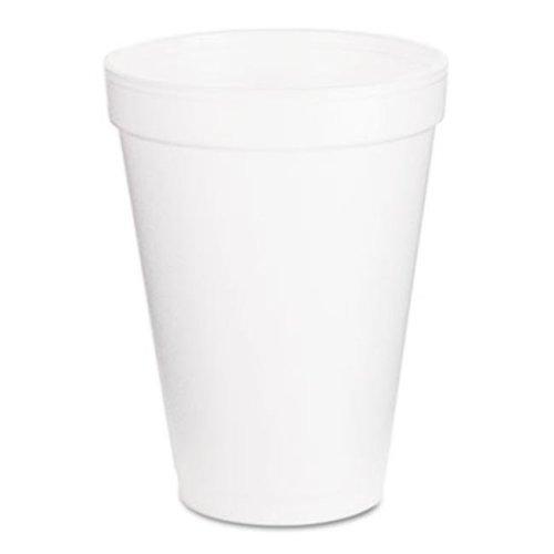 Drink Foam Cups  12 oz  White  1000/Carton