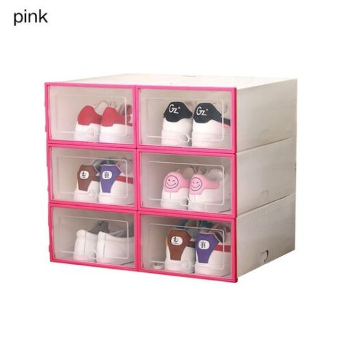 (31.5X21.5X12.5CM, PINK) Shoe Box Storage Under Bed Drawer Type Shoe Box