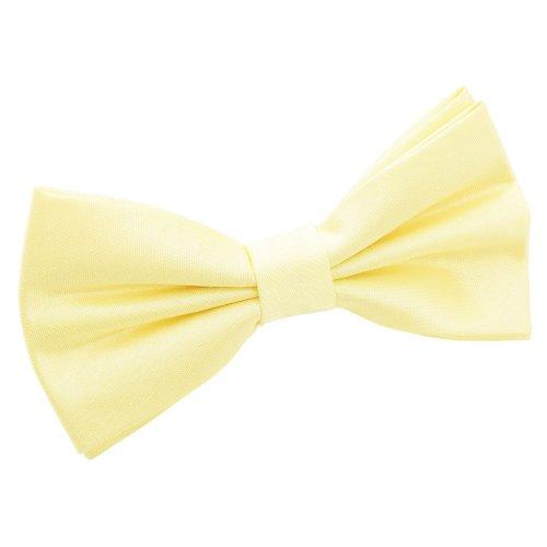 Lemon Yellow Shantung Pre-Tied Bow Tie