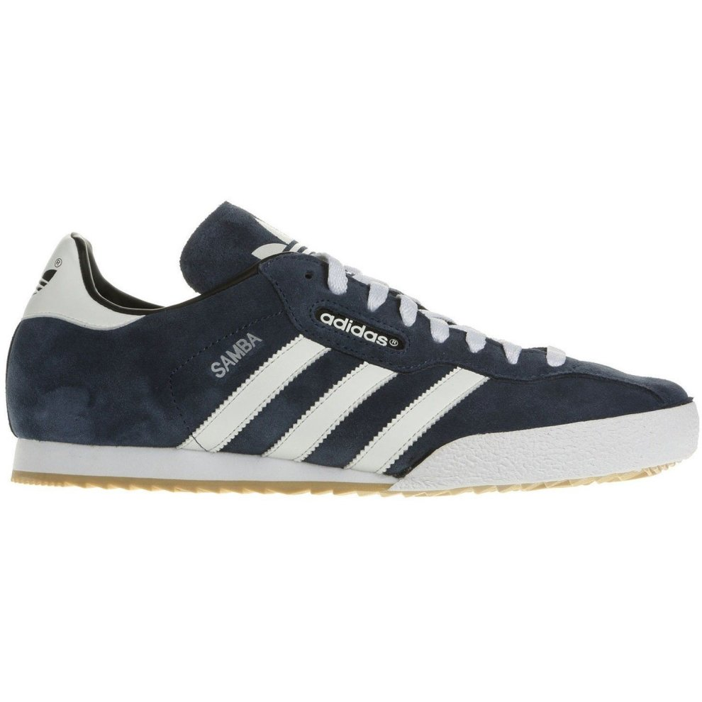 (9.5) adidas Originals Samba Super Suede Trainers - Navy