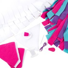 make it real Unicorn Hoodie Blanket Fleece Sewing Set Art Needlecraft Kit