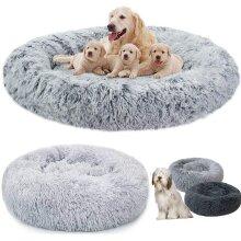 Plush Donut Pet Bed Dog Cat Round Nest Puppy Sofa
