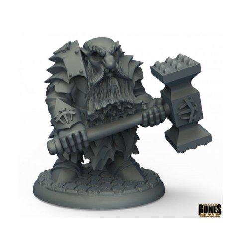 Reaper Bones Black 44010 Dark Dwarf Pounder
