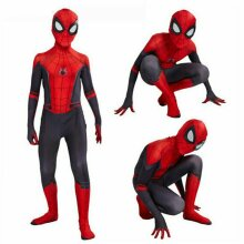 Kid Boy Spider-Man Far From Home Spiderman Zentai Cosplay Costume Suit Jumpsuit