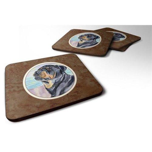 Rottweiler Foam Coaster, Set of 4