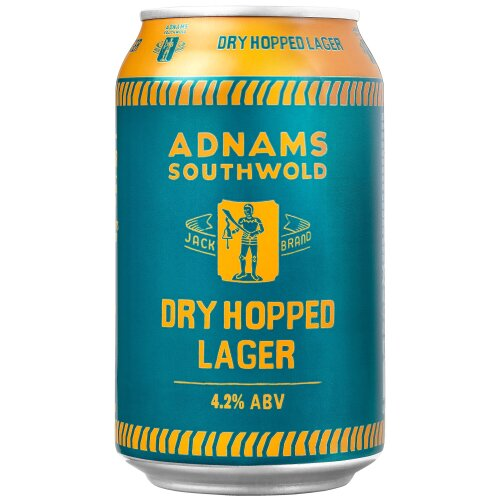 Adnams Jack Brand Dry Hopped Lager Cans - 24x330ml