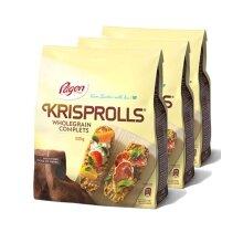 3 x 225g Wholegrain Krisp Rolls Snack Food Soup Breakfast Bread