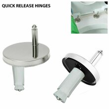 PAIR OF QUALITY TOP FIX WC TOILET SEAT HINGE FITTINGS QUICK RELEASE