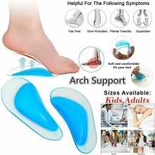 Silicone Gel Arch Support Insole Flat Feet Support