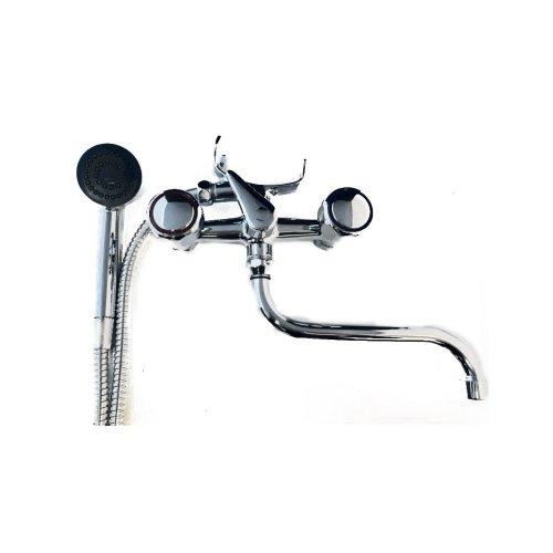 group tap external retro bathtub with swivel spout