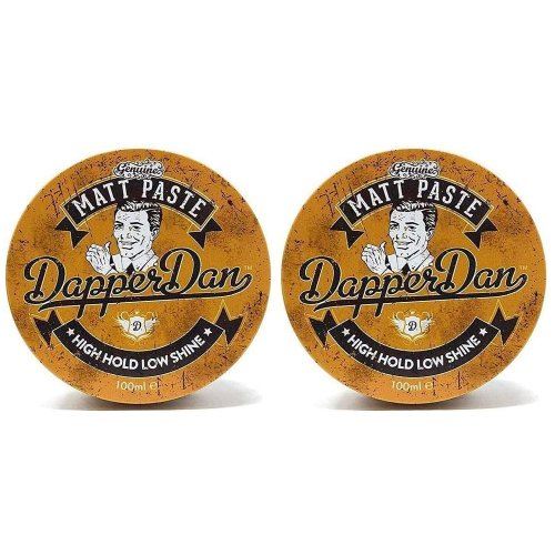 Dapper Dan Matt Styling Paste 2x100ml- Strong But Flexible Hold, Low Shine, Versatile Matt Styler, Mens Styling Products